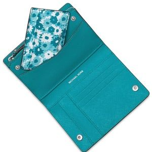 Michael Kors Medium Woman's Card Case Tile Blue